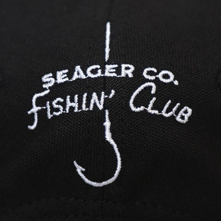 SEAGER シーガー SEAGER FISHIN' CLUB SNAPBACK スナップバックキャップ BLACK