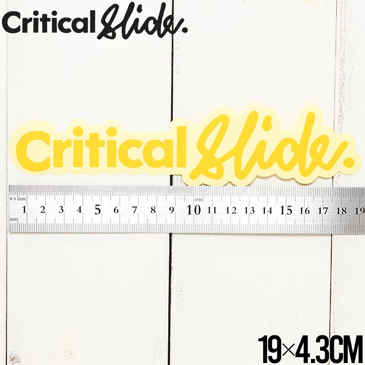 【送料無料】Critical Slide クリティカルスライド TCSS ティーシーエスエス STICKER ステッカー The Critical Slide Society STICKV9 #3