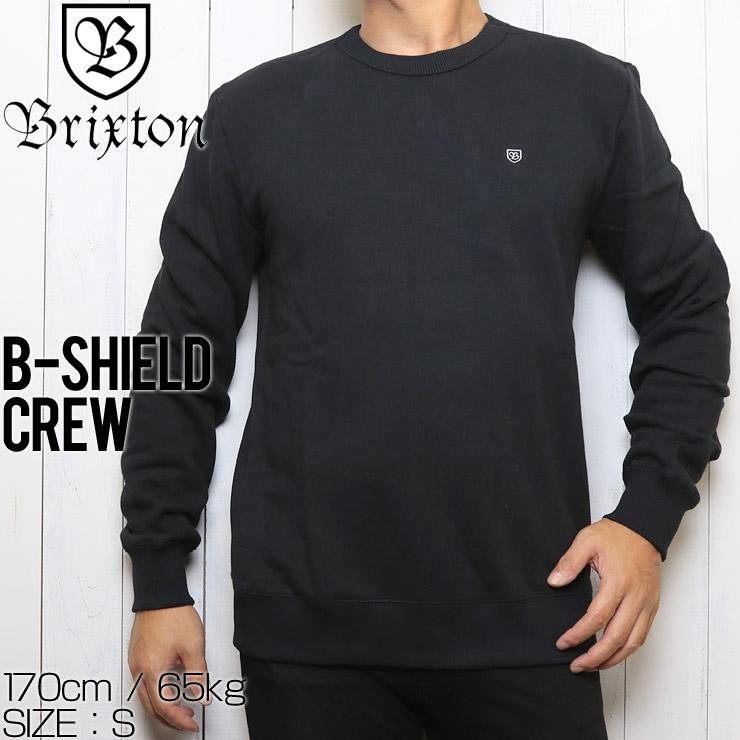 BRIXTON ブリクストン B-SHIELD CREW スウェットトレーナー 02485 BLACK