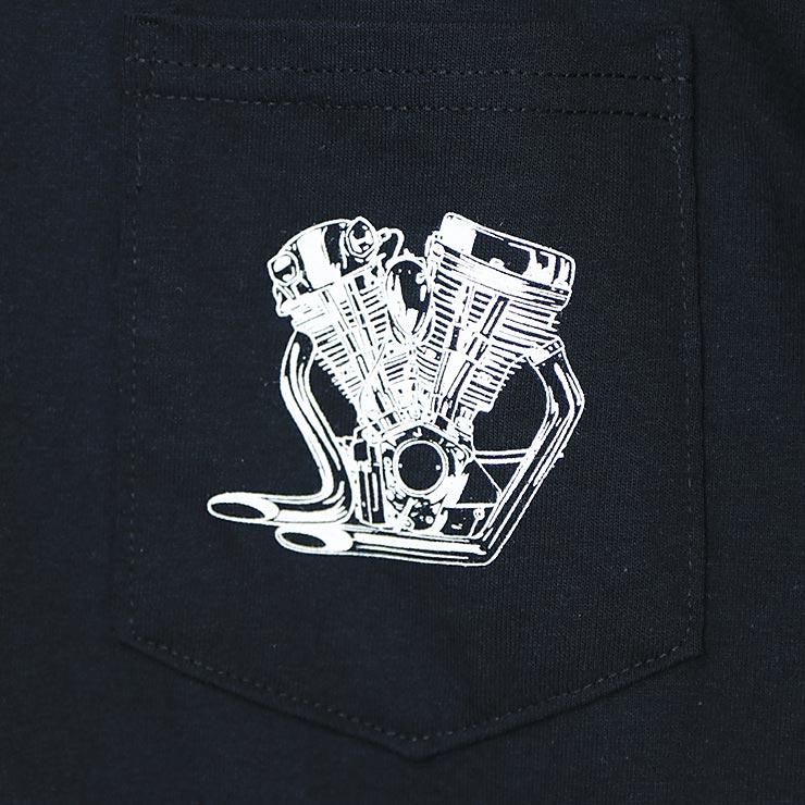 [クリックポスト対応] Cycle Zombies サイクルゾンビーズ BIG TWIN POCKET S/S TEE 半袖Tシャツ CZ-MPPS-098