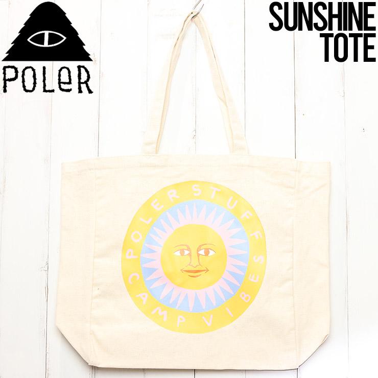 [クリックポスト対応] POLeR ポーラー SUNSHINE TOTE BAG トートバッグ 211BGU1007