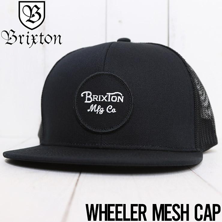 【送料無料】 BRIXTON ブリクストン WHEELER MESH CAP メッシュキャップ 10779 BKBLK [FB]