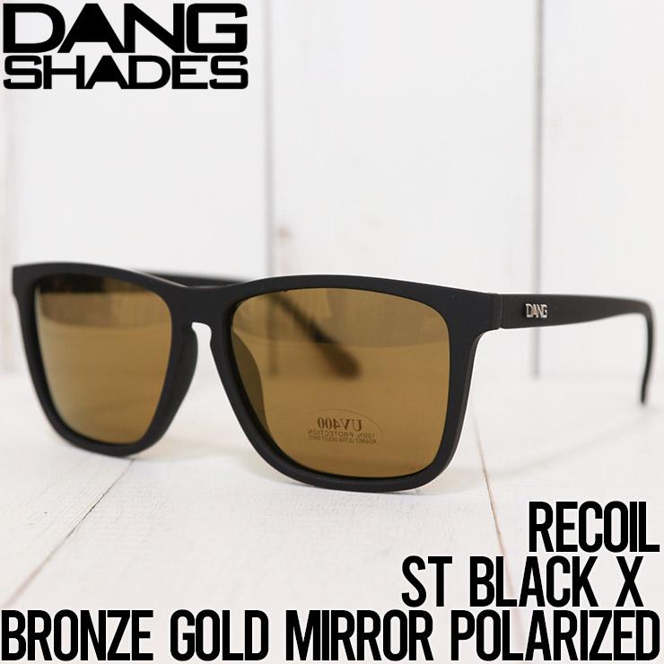 【送料無料】 DANG SHADES ダンシェイディーズ RECOIL POLARIZED SUNGLASSES 偏光サングラス ST BLACK X BRONZE GOLD MIRROR POLARIZED [FB]