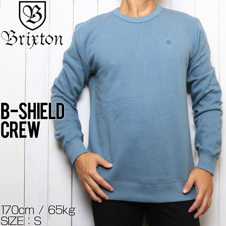 BRIXTON ブリクストン B-SHIELD CREW スウェットトレーナー 02485 BLHAZ