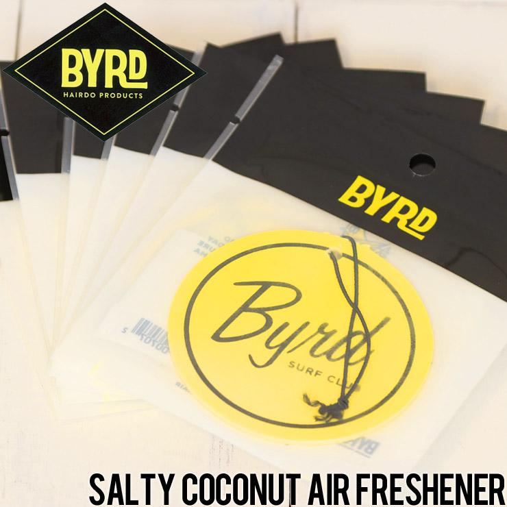 [クリックポスト対応] BYRD バード AIR FRESHENERS BYRD SURF CLUB エアフレッシュナー バードサーフクラブ ソルティココナッツ
