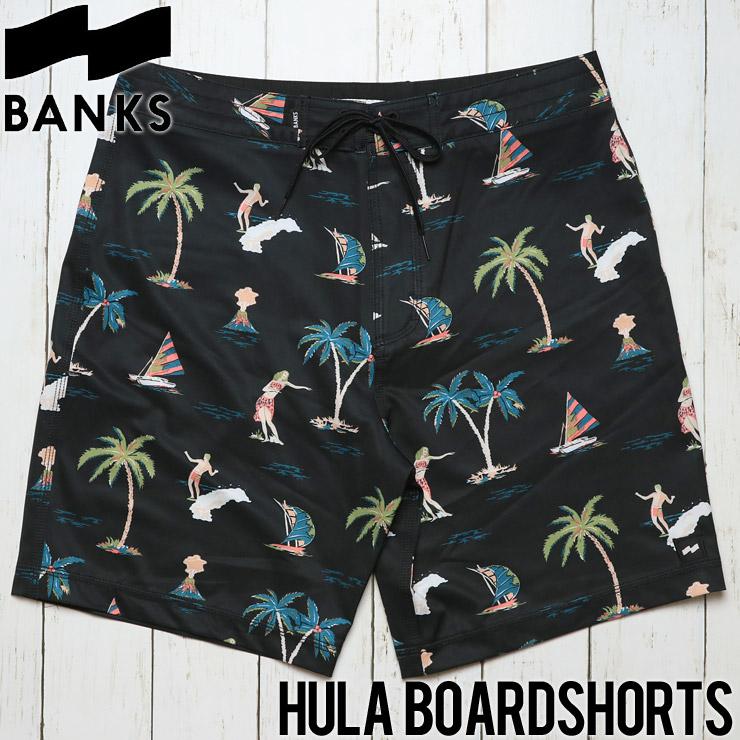 [クリックポスト対応] BANKS バンクス HULA BOARDSHORTS ボードショーツ BS0112