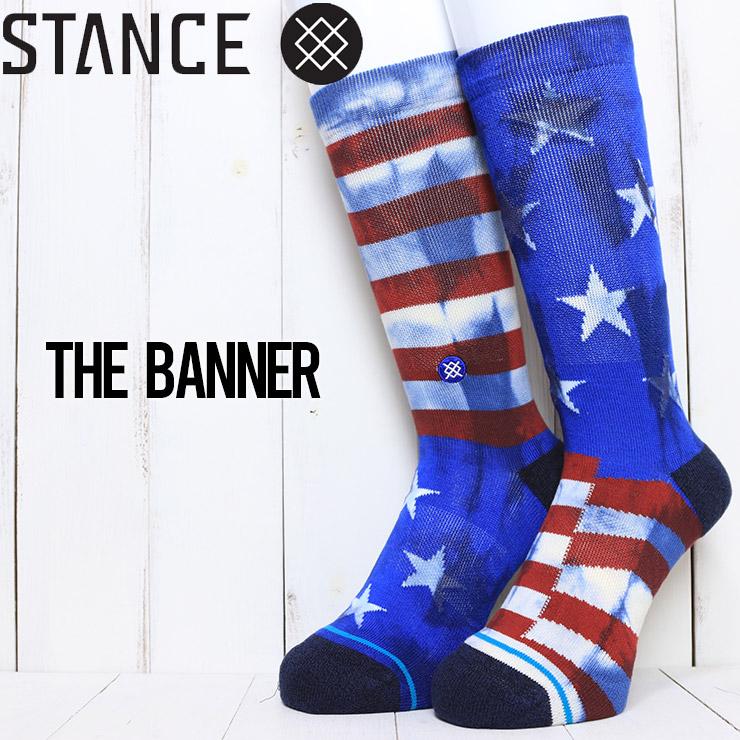 [クリックポスト対応] STANCE スタンス THE BANNER SOCKS ソックス 靴下 A556A21BAN