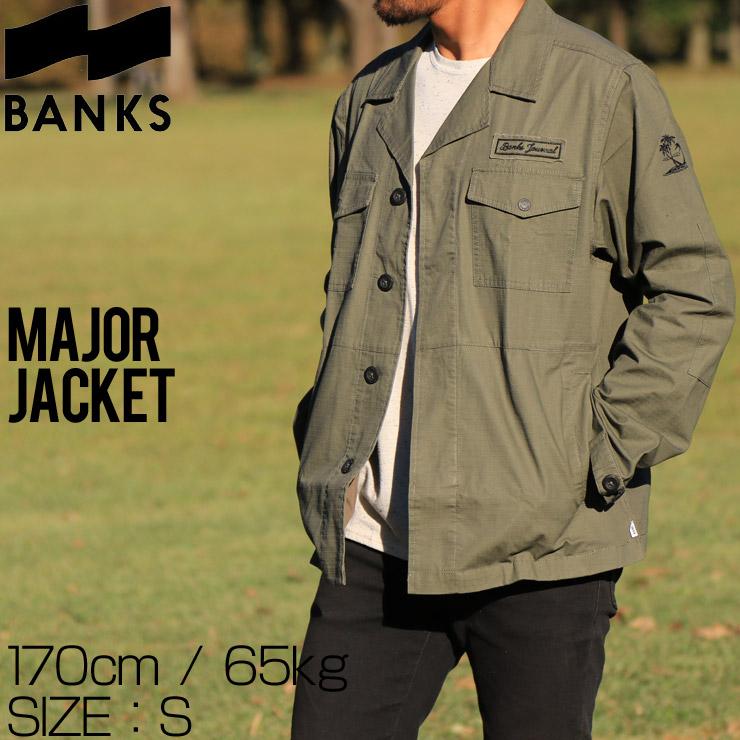 [クリックポスト対応] BANKS バンクス MAJOR JACKET ミリタリージャケット WJT0035