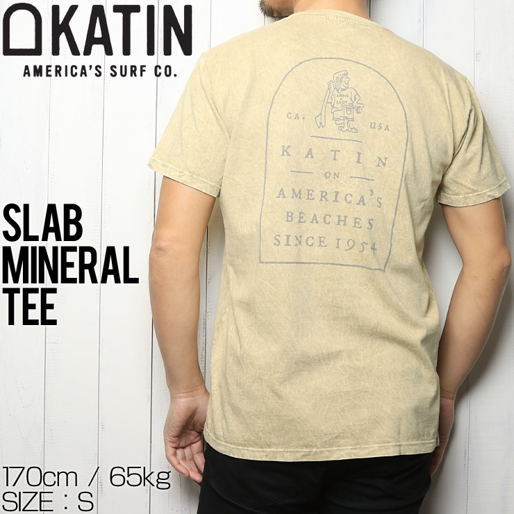 [クリックポスト対応] KATIN ケイティン SLAB MINERAL TEE  半袖Tシャツ TSSLA03