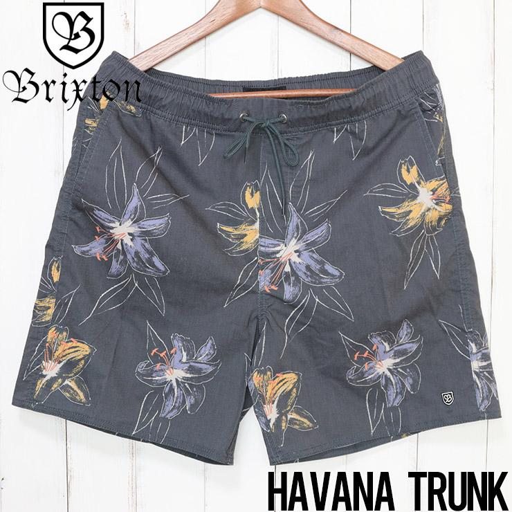 [クリックポスト対応] BRIXTON ブリクストン HAVANA TRUNK ハイブリッドショーツ ボードショーツ 04034 BLKHN