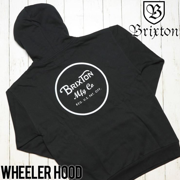 BRIXTON ブリクストン WHEELER HOOD プルオーバーパーカー 02416 BKWHT