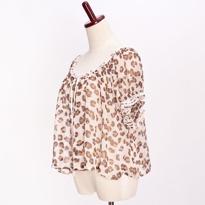 Katie(ケイティ) STRIPTEASE puff blouse