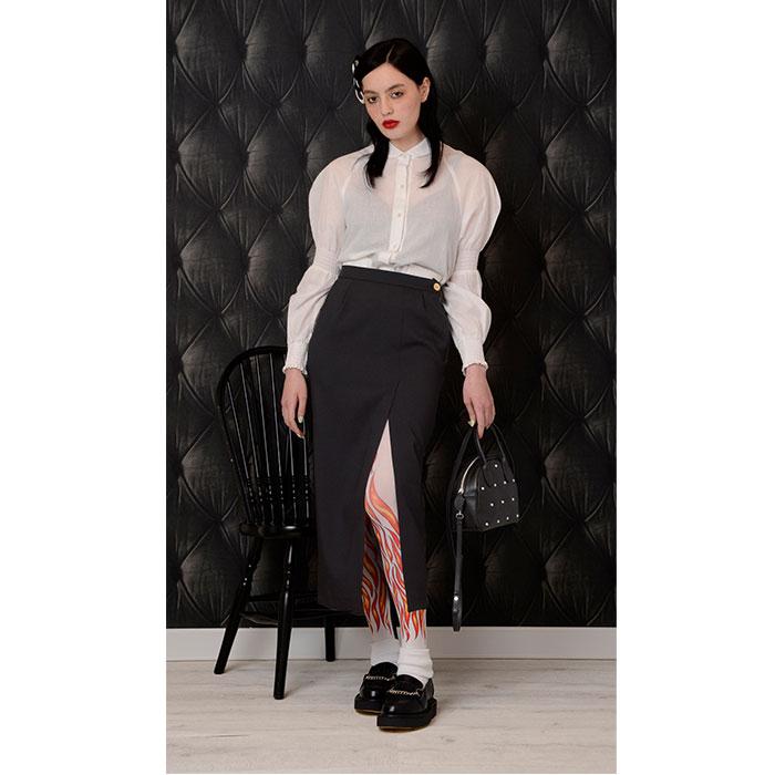 Katie(ケイティ) MANOR HOUSE long slit skirt