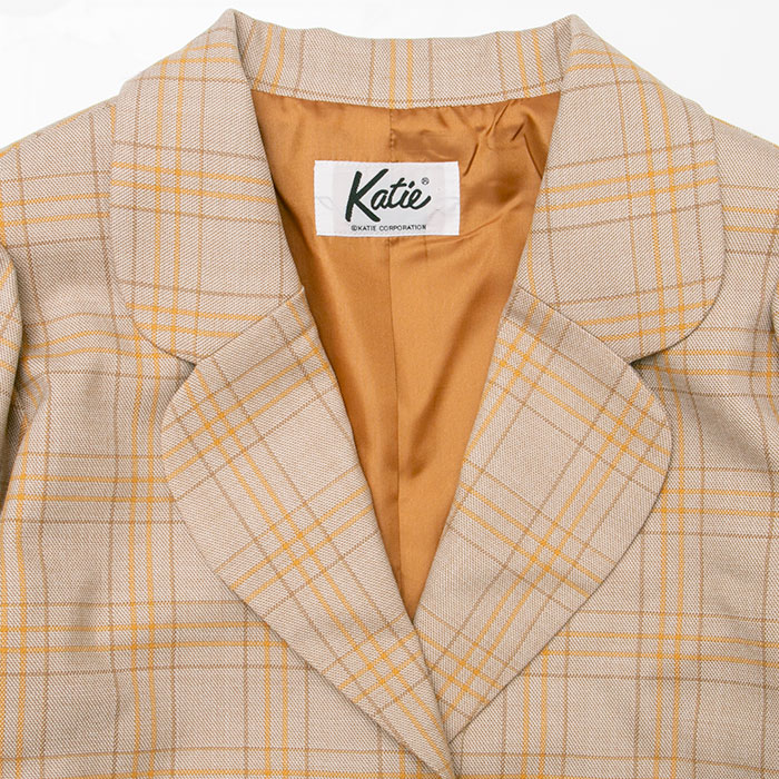 Katie(ケイティ) MANOR HOUSE tailored jacket BEIGE CHECK