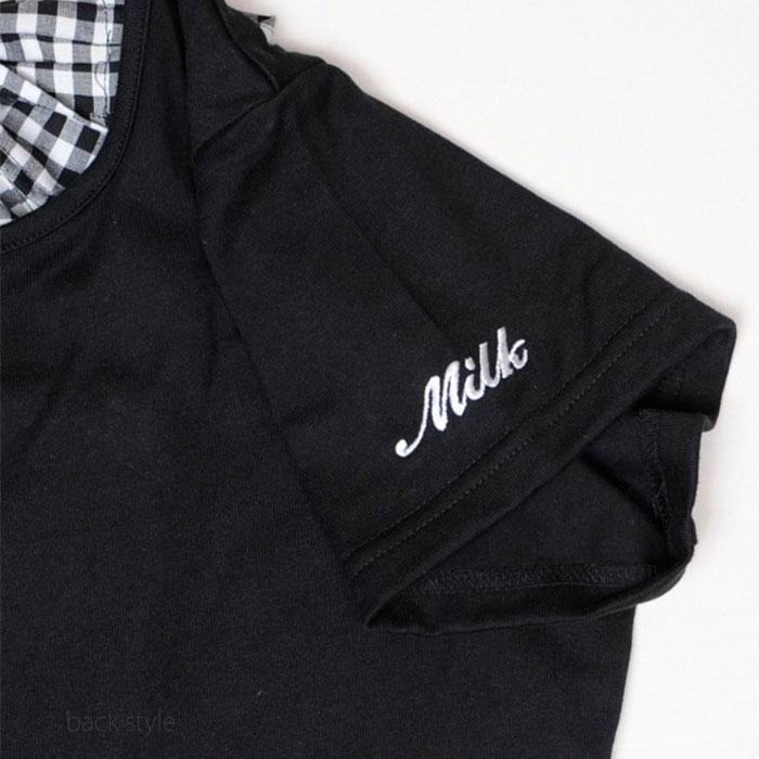 MILK(ミルク) Back ribbon ギンガムワンピ