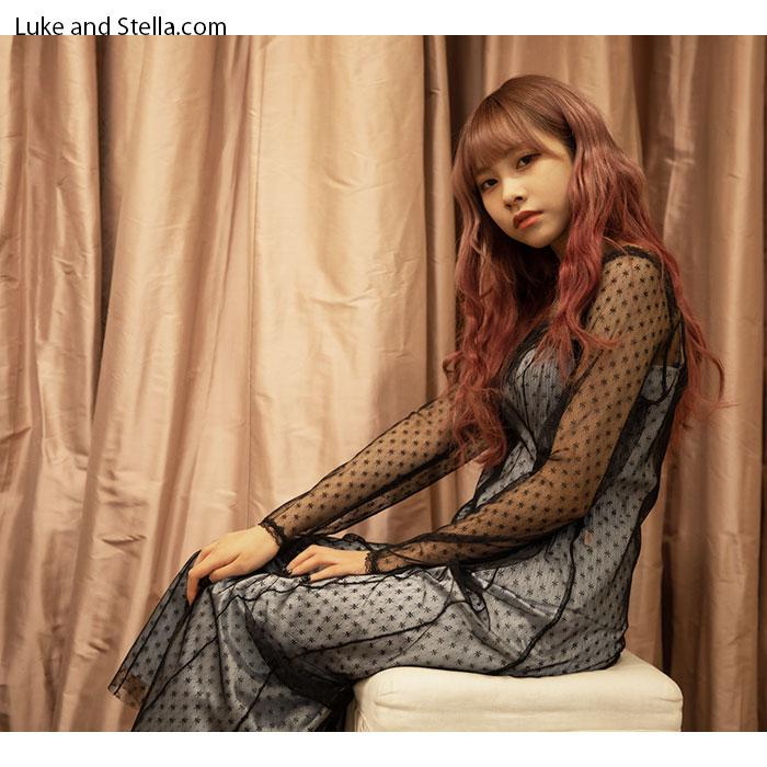 Katie(ケイティ) PRISM long conscious dress