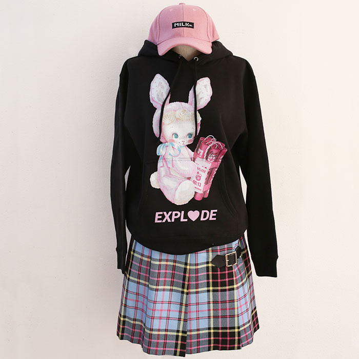 LAND by MILKBOY(ランドバイミルクボーイ) LAND by MILKBOY × Cerise BOMBER BOY HOODIES