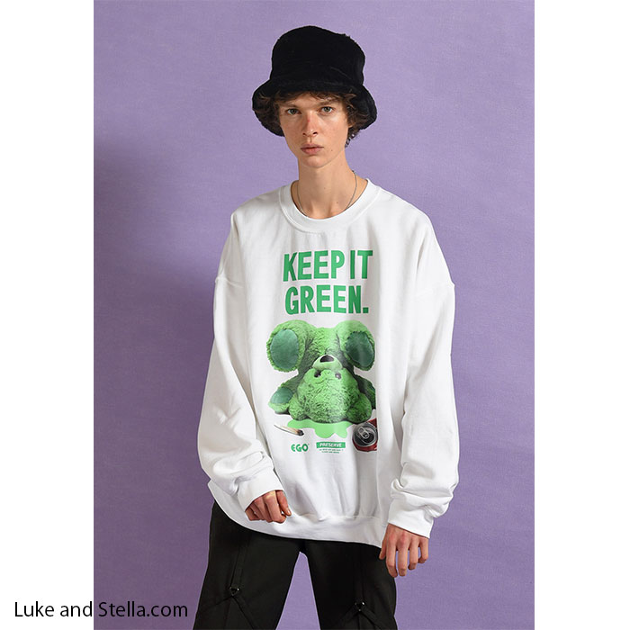 MILKBOY(ミルクボーイ) GREEN BEAR SWEATS