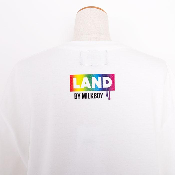 LAND by MILKBOY(ランドバイミルクボーイ) LAND BEAR SPACE RAINBOW TEE