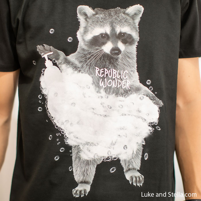 REPUBLIC WONDER(リパブリックワンダー) WASHING RACCOON TEE