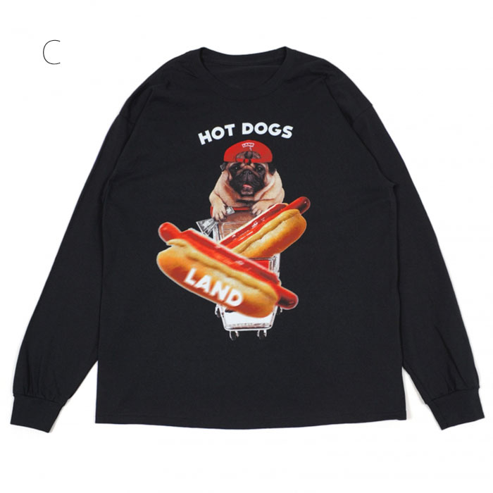 LAND by MILKBOY(ランドバイミルクボーイ) HOT DOGS L.S. TEE