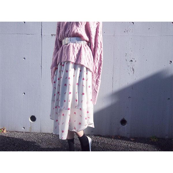 HONEY MI HONEY(ハニーミーハニー) ローズ プリント スカート