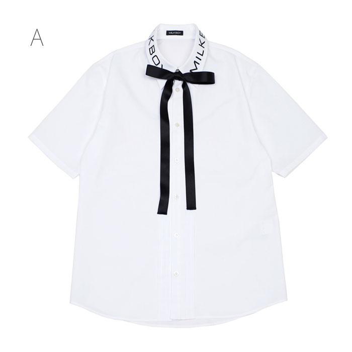 【予約】MILKBOY(ミルクボーイ) SUMMER 2021 LOGO TIED シャツ