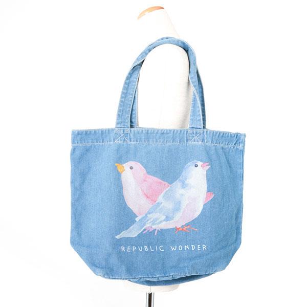 REPUBLIC WONDER(リパブリックワンダー)  BIRDS デニムトート(ライト)