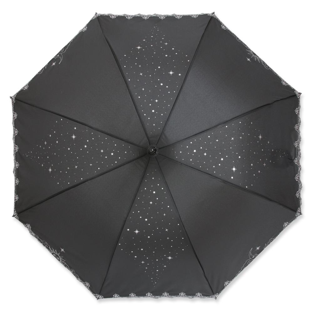 ジュエルスターズ   ミニ折りたたみパゴダ傘・晴雨兼用・UVカット・レディース