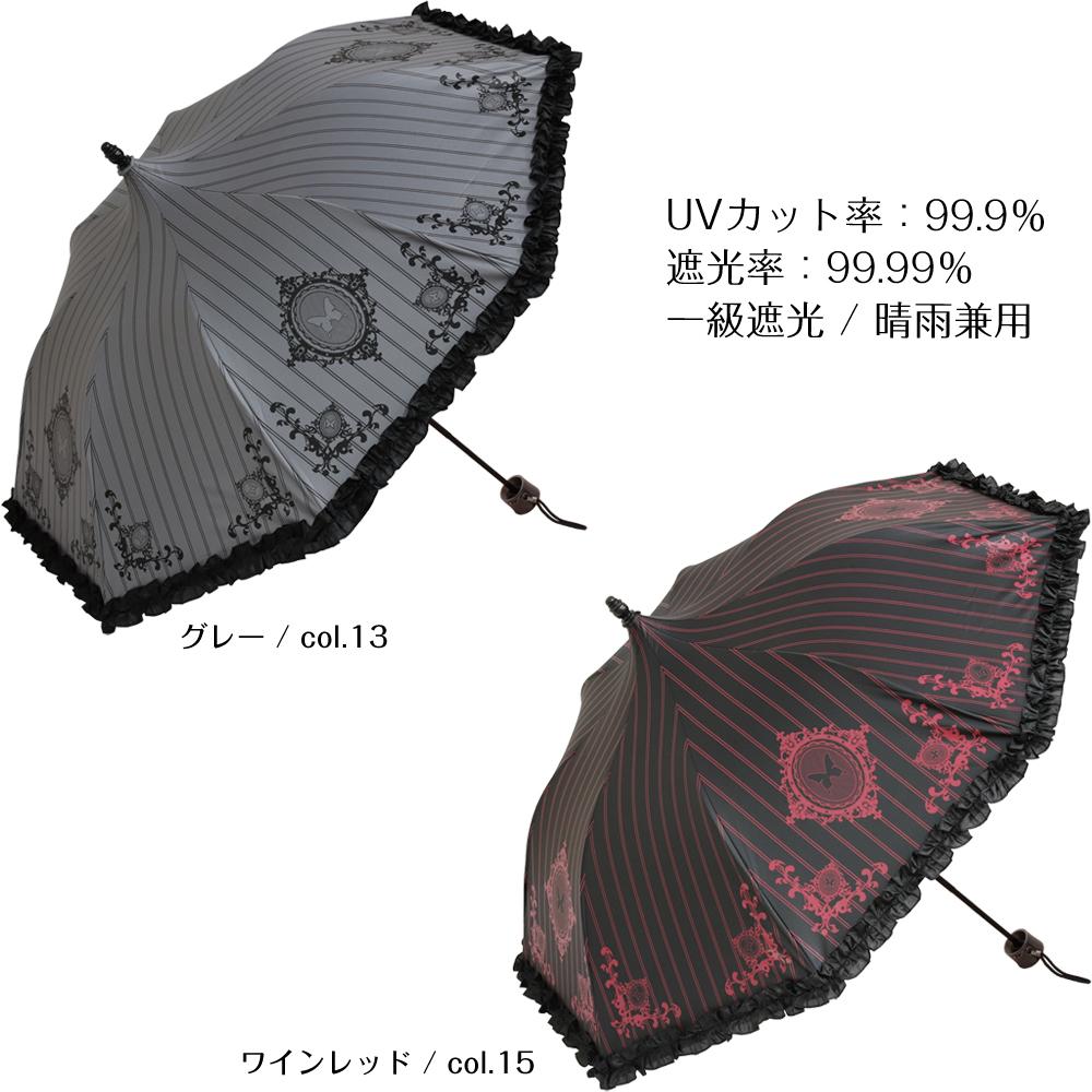 エンブレム オブ ユリシス ノワール | ミニ折りたたみパゴダ傘・日傘・99.99%一級遮光・晴雨兼用・UVカット・レディース