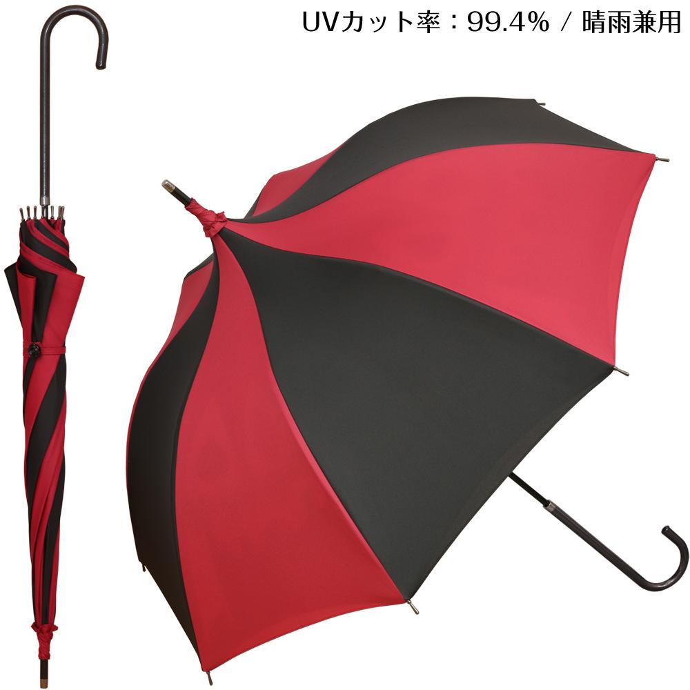 白と黒のアリス・黒サイドver. | パゴダ傘・レディース・晴雨兼用・UVカット