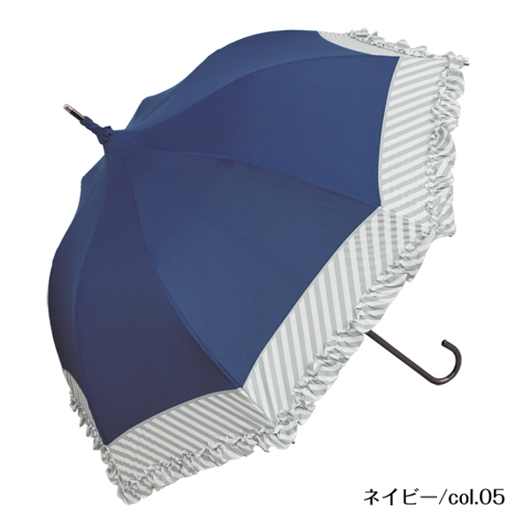 【41%OFF】ミルキーストライプ | パゴダ傘・レディース・晴雨兼用・UVカット