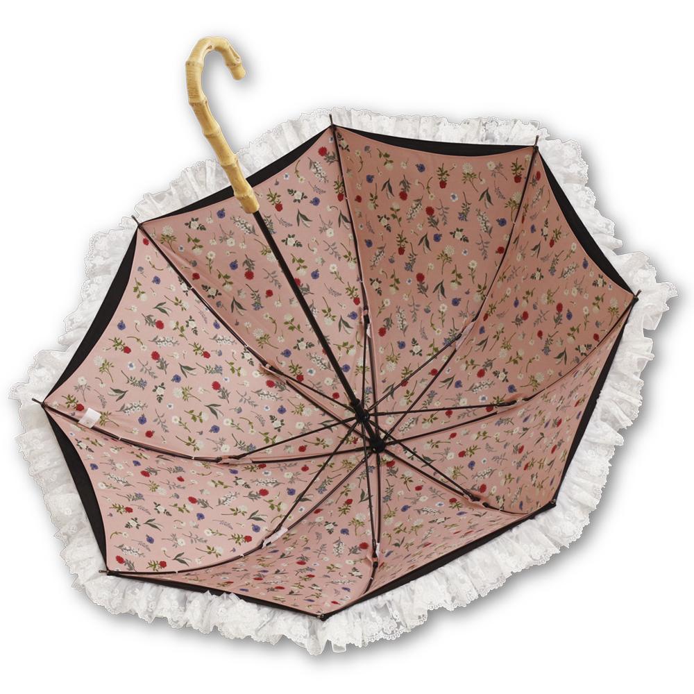 【fouatons(ふわっとん)コラボ】フラワーガーデン | パゴダ日傘・レディース・UVカット・晴雨兼用