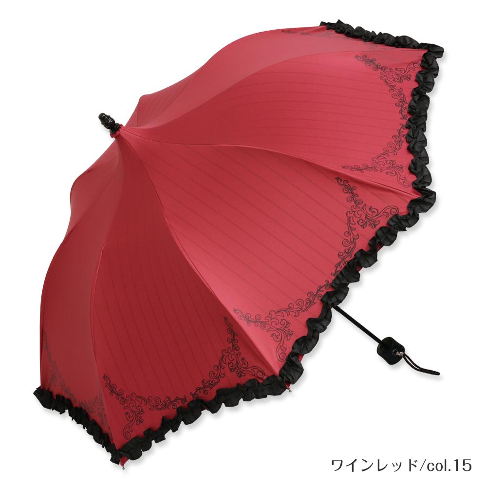 トラディショナルクラウン | ミニ折りたたみパゴダ傘・日傘・100%完全遮光・晴雨兼用・UVカット・レディース