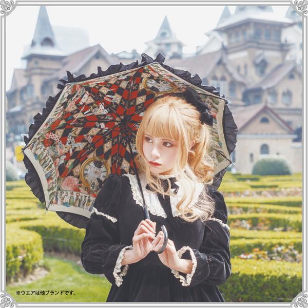 ウサギの魔法時間 | パゴダ傘・レディース・晴雨兼用・UVカット