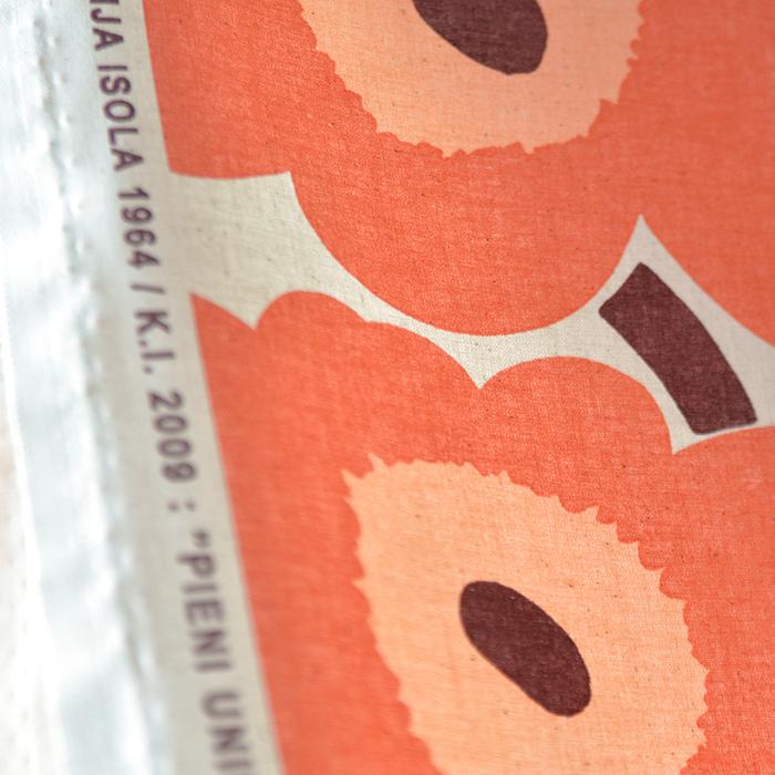 【生地】マリメッコ/marimekko ピエニウニッコ/Pieni Unikko  ナチュラル×アプリコット 10cm単位