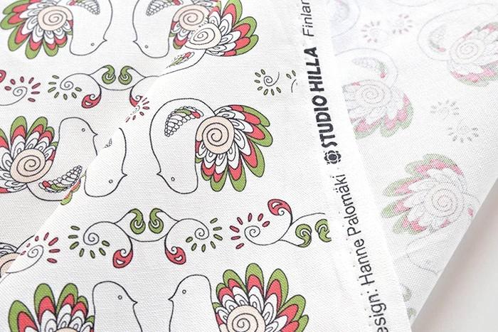 【コーティング生地】スタジオヒッラ/STUDIO HILLA ピックリンツ/Pikkulinnut 全4色/10cm単位 ■