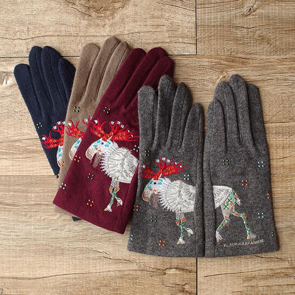 KLAUS HAAPANIEMI クラウス・ハーパニエミ 手袋 フルフィンガー鹿/全4色