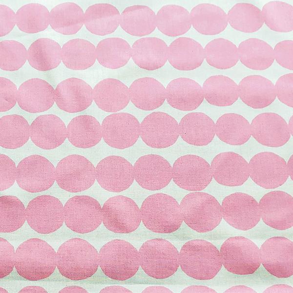 【生地】マリメッコ/marimekko ラシィマット/Rasymatto ホワイト×ライトレッド 10cm単位 ※2020SSシーズンカラー