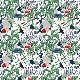 【生地】アルビッドソンズ・テキスタイル/ARVIDSSONS TEXTIL Mimers Brunn/ミーミルの泉 GR/グリーン 10cm単位 ■