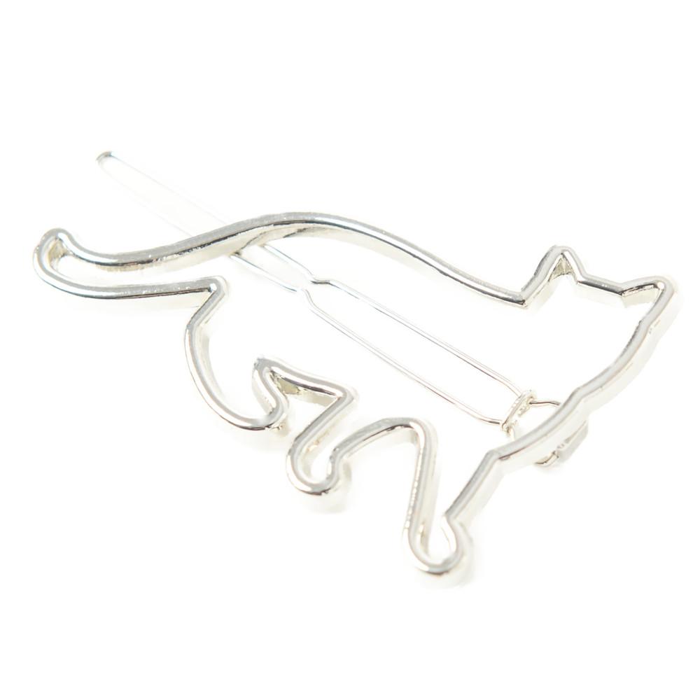 ヘアピン ヘアアクセサリー ヘアアクセ 猫 ねこ ネコ 猫雑貨 メタル ゴールド シルバー H