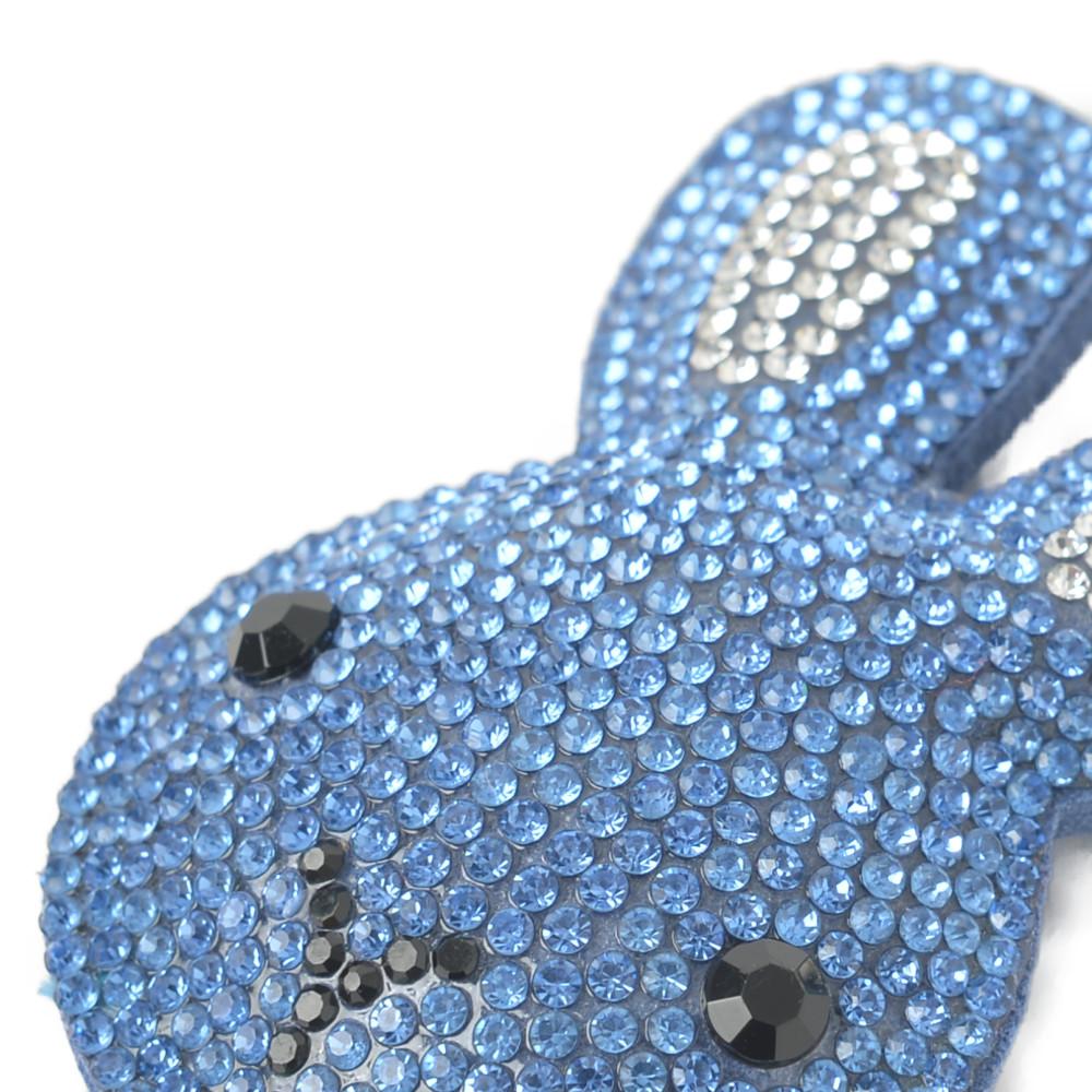 キーホルダー バッグチャーム うさぎ ウサギ 兎 ラパン ラビット キラキラ 青 ブルー プレゼント Z
