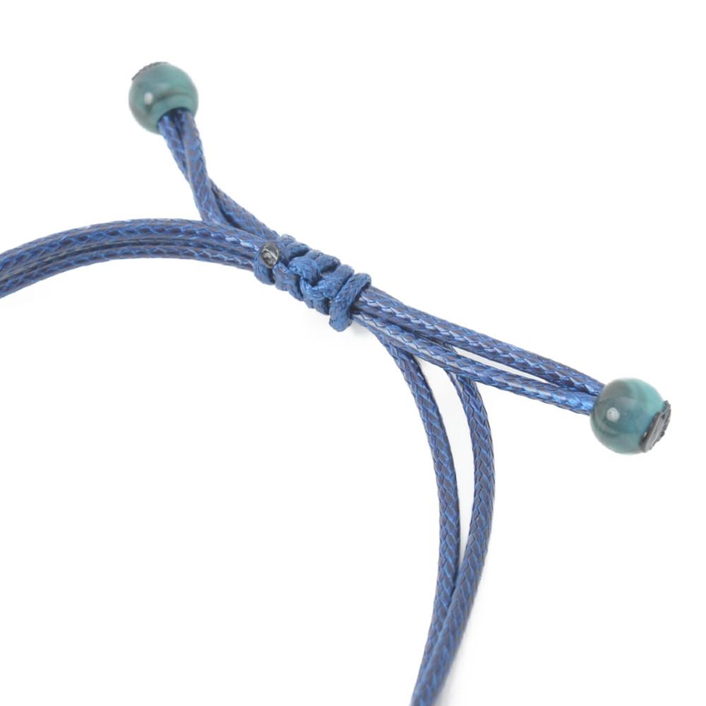【SALE】ネックレス レディース ウッド 木 天然素材 糸巻き ボール 編み 青 水色 ブルー 金属アレルギー N