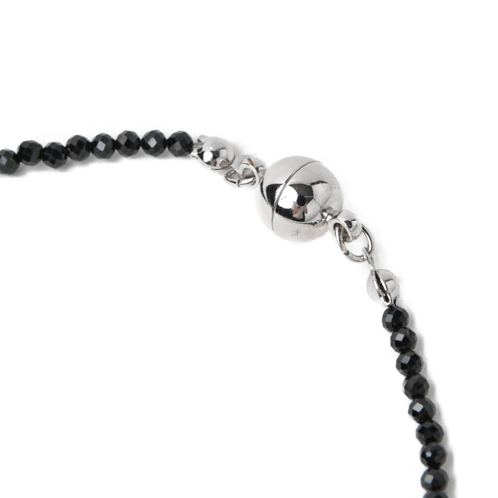日本製 ネックレス ペンダント レディース 天然石 オニキス パヴェ パヴェボール キラキラ マグネット N