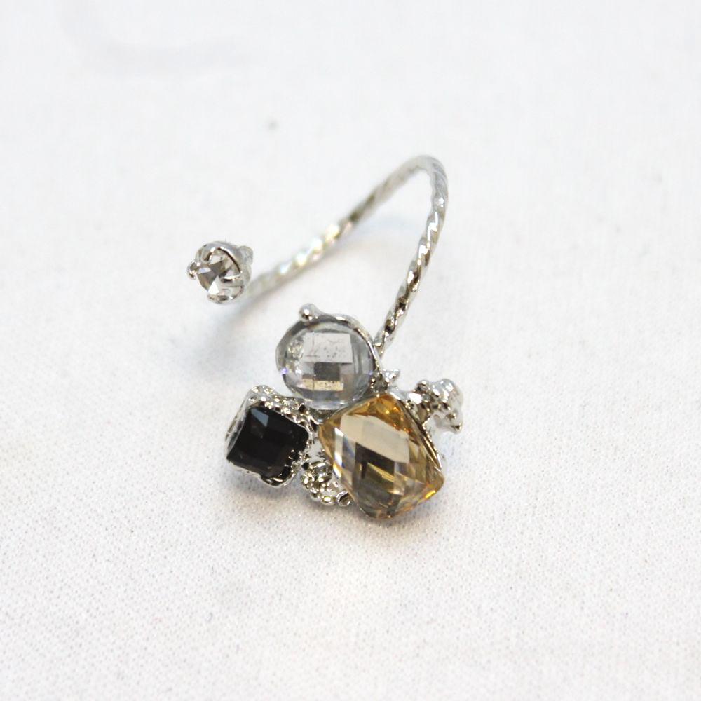 シックカラーのデザインリング 指輪