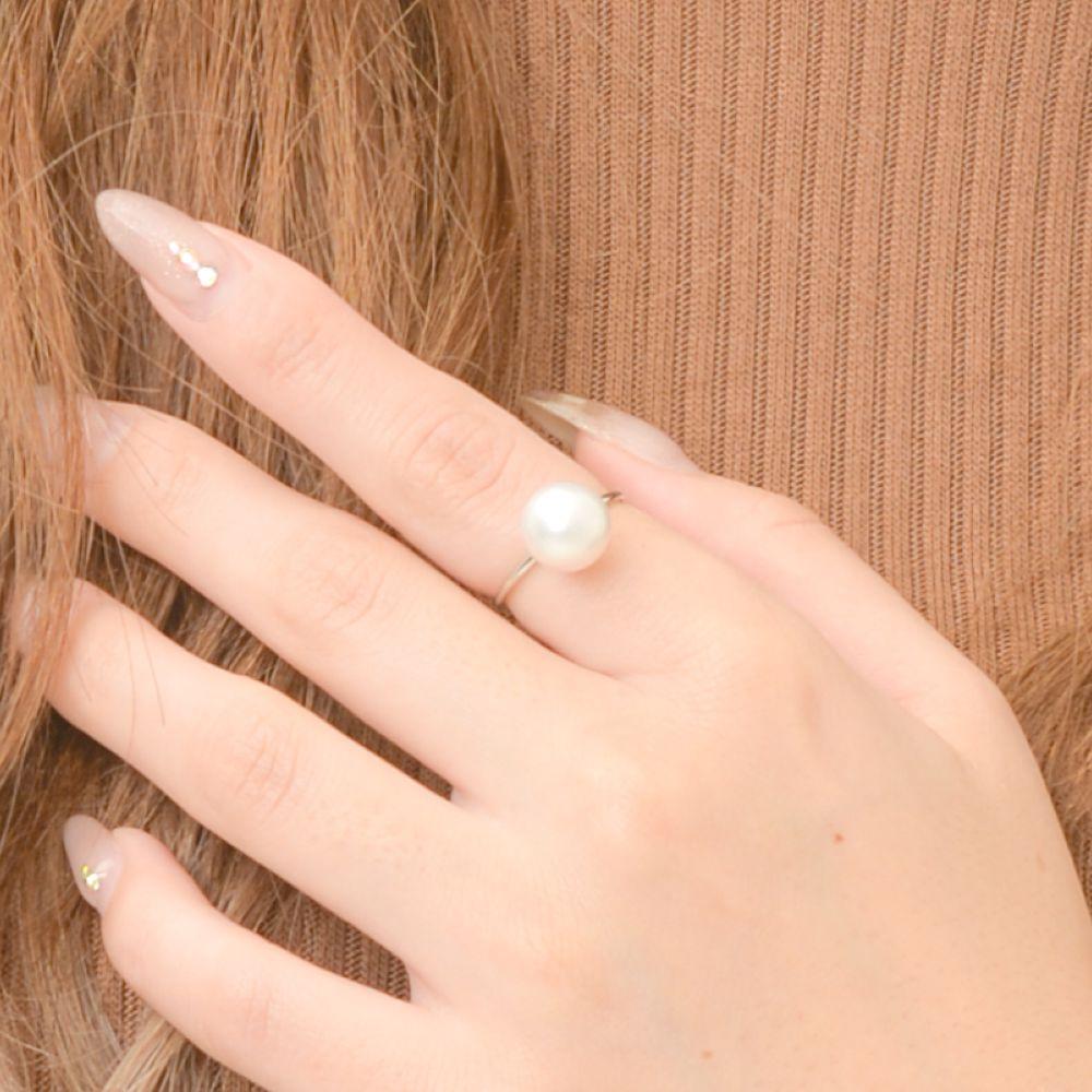 【SALE】マジョリカパール マジョルカパール 指輪 リング 1粒 スペイン製 シンプル フォーマル I