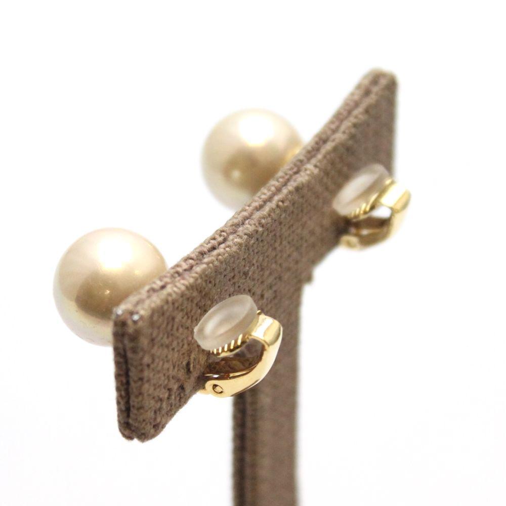 スペイン ゴールデンマジョルカパールの12mm玉イヤリング マジョリカパール