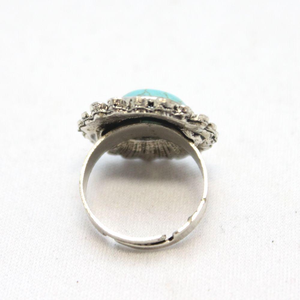 フラワーターコイズのシルバーリング 指輪