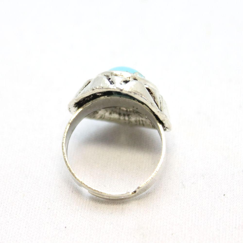 オーバルターコイズのシルバーリング 指輪