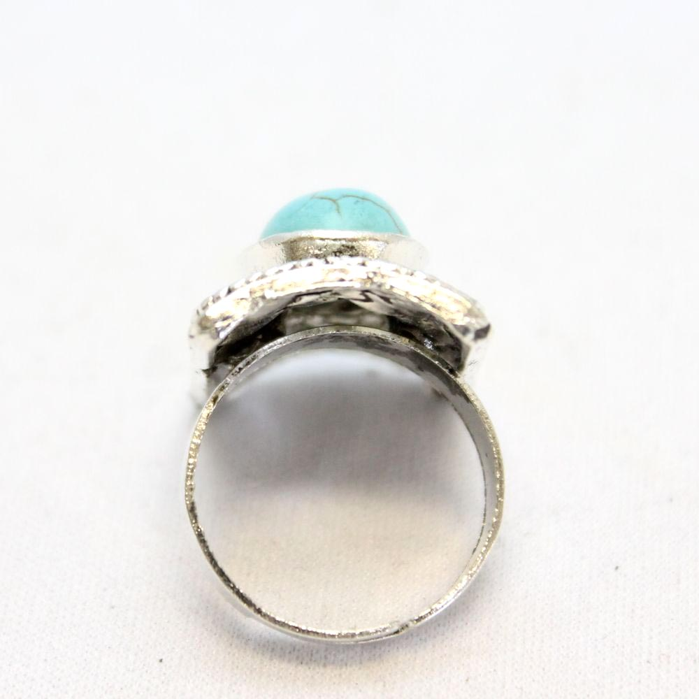 スクエアターコイズのシルバーリング 指輪